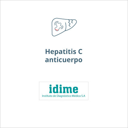 Toma de laboratorio de hepatitis C anticuerpo