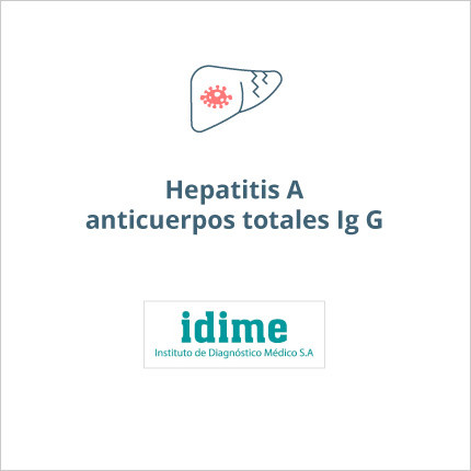Toma de laboratorio de hepatitis a anticuerpos totales- Ig G